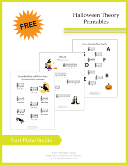 Learning notes | Free Printables | Teaching Aids | Halloween 2017 Theory Printables