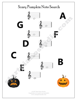 Learning notes | Free Printables | Teaching Aids | Halloween 2017 Theory Printables (Example 1)
