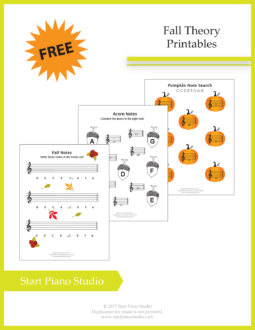 Learning notes | Free Printables | Teaching Aids | Fall Theory Printables