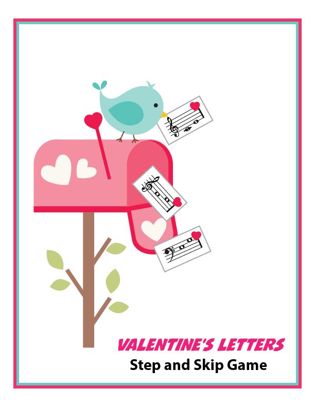 Valentine's Letters Step and Skip Game