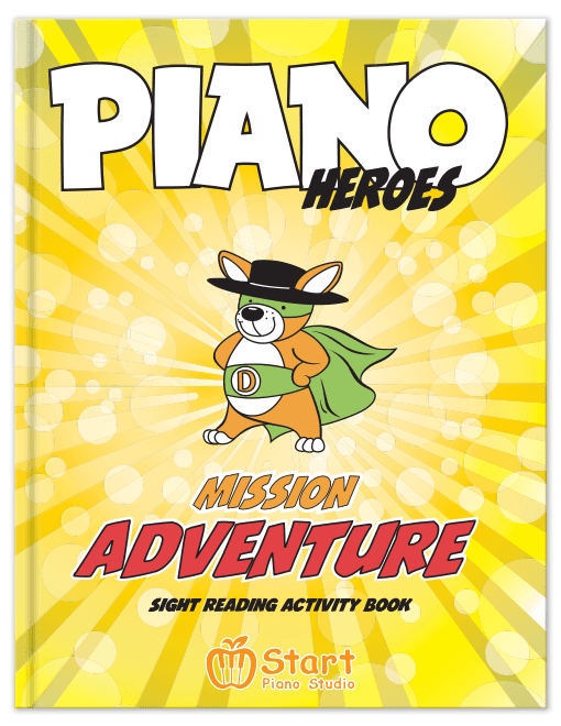 Piano Heroes Mission Adventure Sight Reading Activity Book